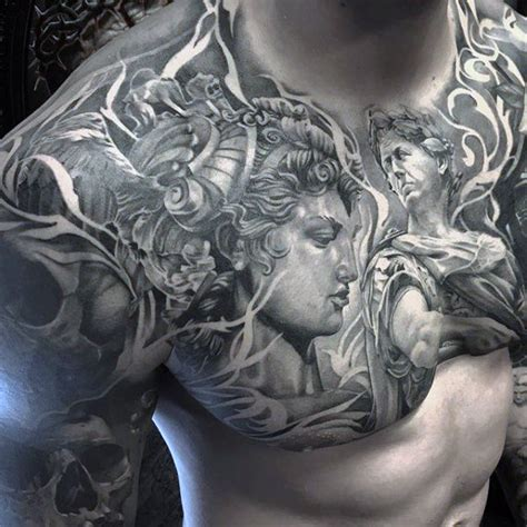 badass chest tattoos for men 60 badass chest tattoos for manly ink design ideas