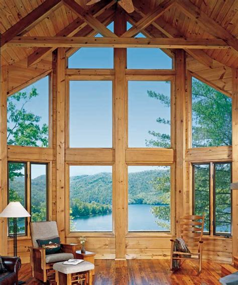 large wooden glass window designs home design home interior artistic log home interior window trim using large glass