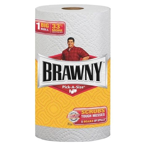 Who Makes Brawny Paper Towels - brawny industrial a size white paper towels 2 ply
