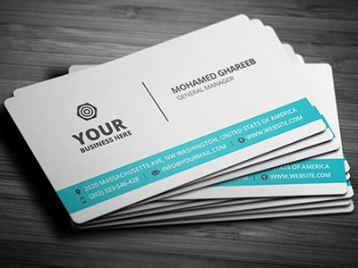 name card psd template business card template psd free business template