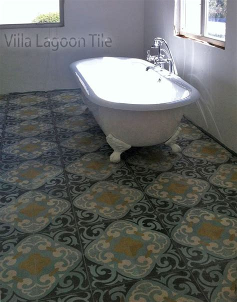 cement tile bathroom floor bathrooms with cement tile villa lagoon tile