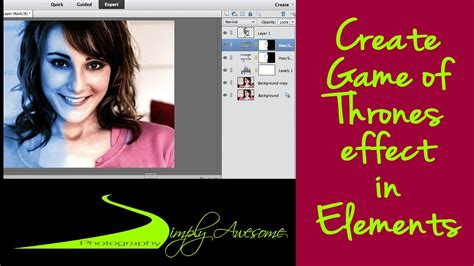 tutorial photoshop game of thrones learn photoshop elements game of thrones effect youtube