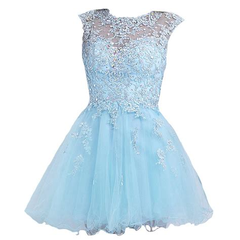 short light blue dresses for juniors vilavi a line round brought short tulle from amazon dresses