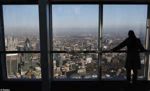 the shard s loo with a view 750ft above toilet on