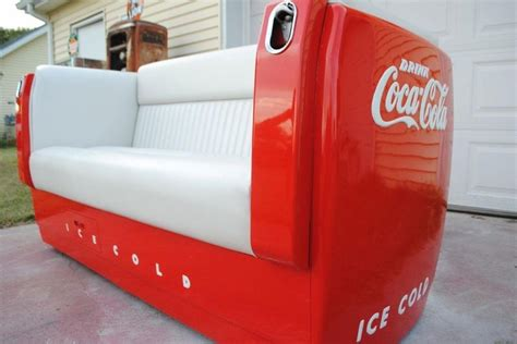 couch cooler man cave coke couch