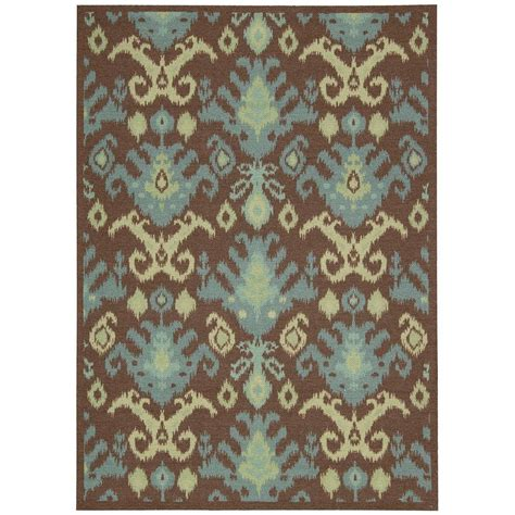 Area Rugs Overstock Nourison Overstock Vista Chocolate 5 Ft X 7 Ft Area Rug 137920 The Home Depot
