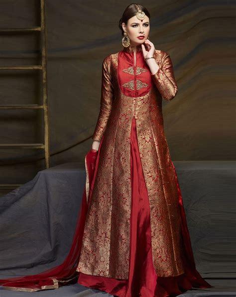 Wst 7268 Ethnic Dress Brown 1000 images about indo western lehenga choli on