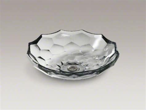Kohler Glass Sinks kohler briolette tm vessel faceted glass bathroom sink