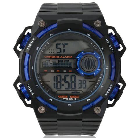 Jam Tangan Pria Digitec Dg 3028 Black List Gold 2 skmei jam tangan digital pria dg1115 black blue jakartanotebook