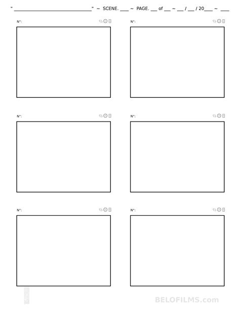 storyboards template storyboard and animatic templates belo