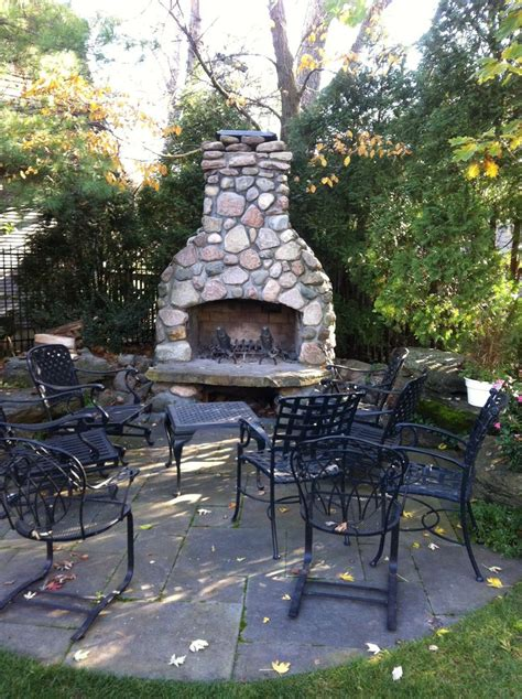 river rock outdoor fireplace wood burning fireplace diy