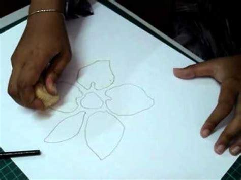 tutorial lukis menggambar cara lukis bunga ros doovi