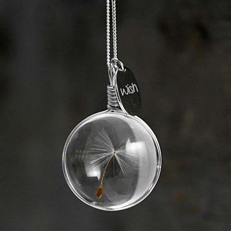 about jewelry dandelion wish necklace so that s cool