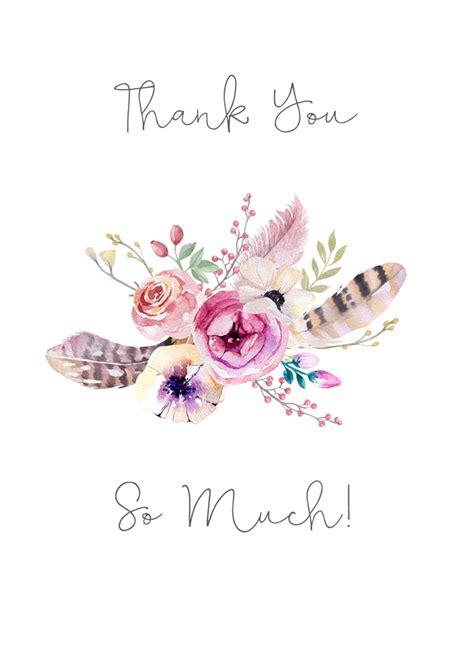 Boho Thank You Cards pretty bohemian thank you card boho floral design
