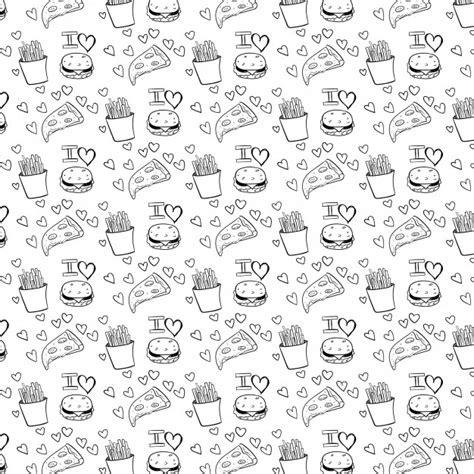 pattern food vector fast food pattern vector free download