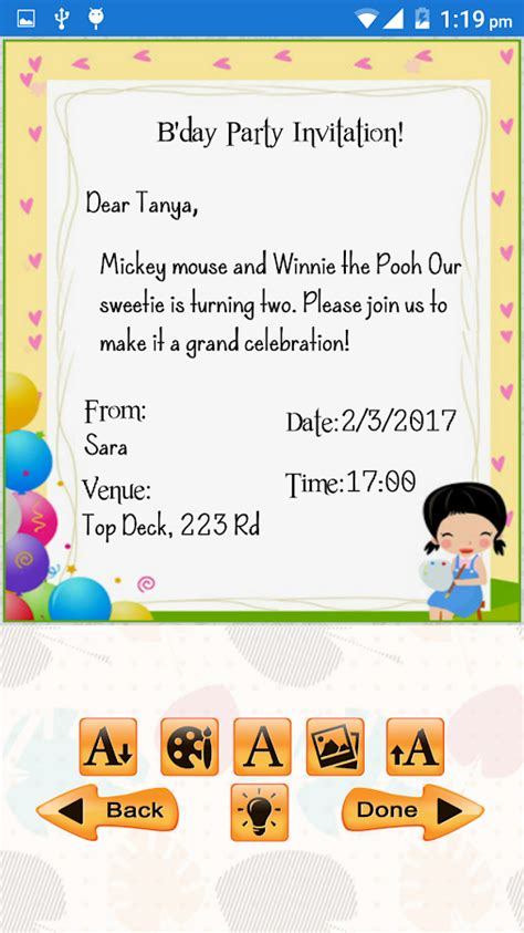 birthday invitation editor birthday invitation maker android apps on play