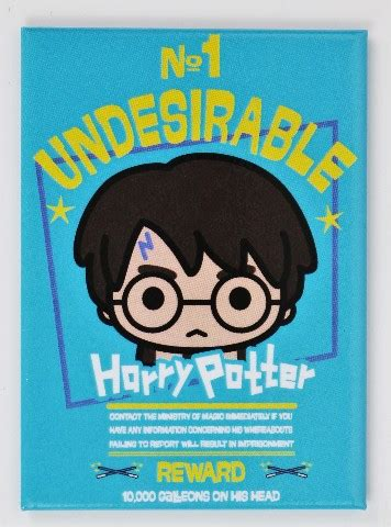 harry potter   undesirable hogwarts fridge magnet wizard school