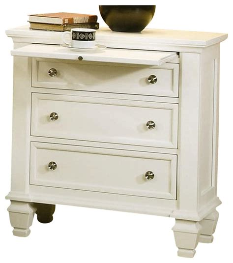 nightstands bedside tables coaster miri nightstand white traditional nightstands