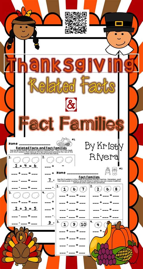 7 Facts On Thanksgiving by Use These Thanksgiving Related Facts And Fact Families To