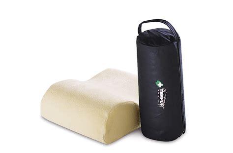 la almohada tempur recomienda el set de viaje y la almohada travel