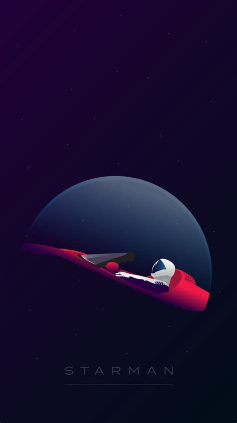elon musk wallpaper iphone spacex starman wallpapers inspired from falcon heavy s