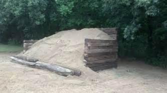 backyard shooting range railroad ties and dirt mound backstop ar15 com archive
