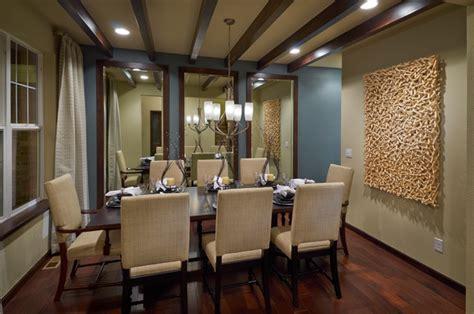 Three Mirrors Dining Room Ryland Homes Pioneer Ridge Modesl Contemporary Dining