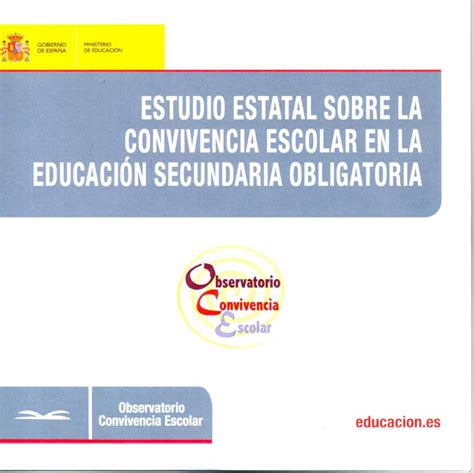 la membresa de la estudio estatal sobre la convivencia escolar en la educaci 243 n secundaria obligatoria