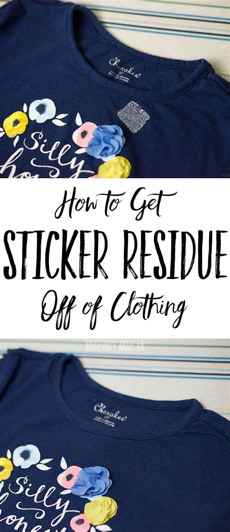 How To Get Sticker Residue Shirt