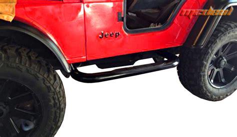Jeep Cj5 Side Steps 76 83 Jeep Wrangler Cj5 3 Quot Side Armor Step Nerf Bars Black