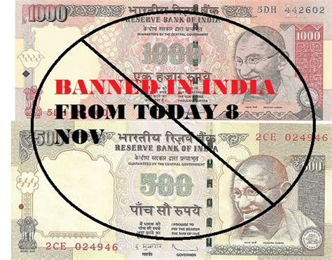 accept rs 500 rs 1000 notes till november 500 1000 rupees note banned in india from 8 november