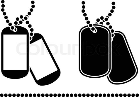 stencils of dog tags vector illustration stock vector