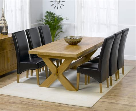 bruges 160cm solid oak extending dining table with
