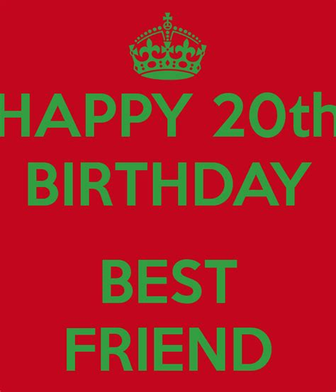 Happy 20th Birthday Quotes 20th Birthday Quotes For Friends Quotesgram