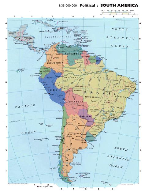america political map large detailed political map of south america south