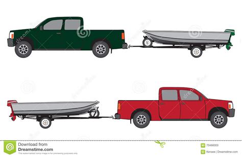 Truck Boat Trailer by Boat Trailer And Stock Vector Image 70466003