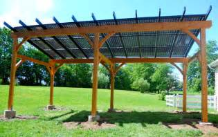 Trellis Roof Solar Pergola Traditional Patio Philadelphia By