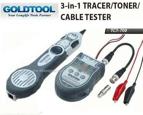 Lan Tester Tracer Tuner Tct 700 Goldtool 3 in 1 tracer toner cable tester tct 700 toko sigma