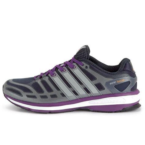 Adidas Sonic Boost 37 42 adidas womens sonic boost running shoes grey purple