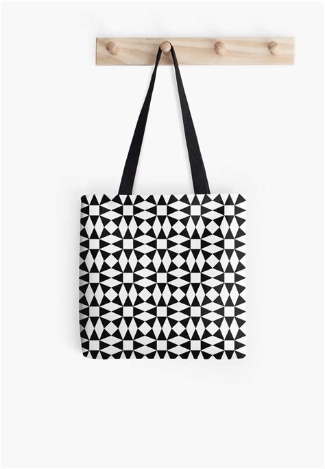 black patterned gift bags black and white seamless triangle pattern tote bag