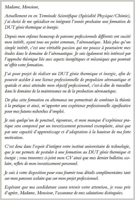 Exemple De Lettre De Motivation Alternance lettre de motivation alternance dut lettre de motivation