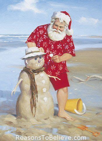 shoreline fun canvas giclee print shoreline fun santa beach giclee featuring santa