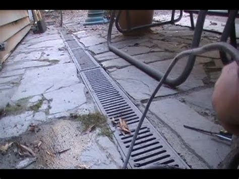 Adding Sump Pump to Channel Drain for better dranage   YouTube