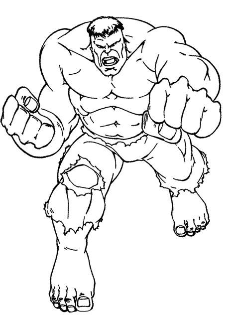 descargamos dibujos para colorear hulk