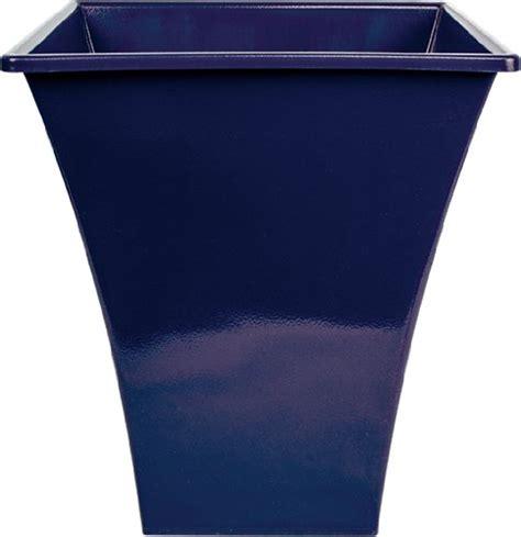 Blue Planter Pots by 3x Large Blue Square Metallic Plastic Planters Flower