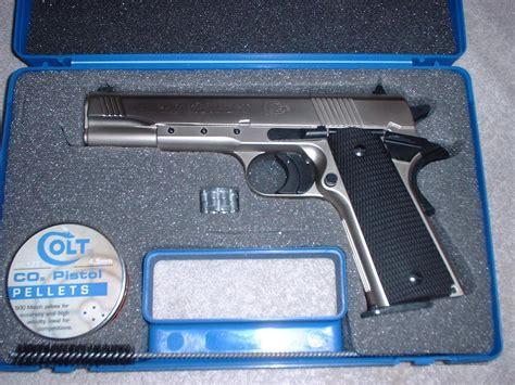 Colt 1911 A1 Nickel Finish 177 Pellet Co2 Pist For Sale