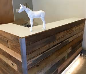 Reclaimed Wood Reception Desk Custom Reception Reclaimed Wood Desk