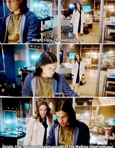 caitlin and will theflash 1x15 quot out of time quot cisco and caitlin the