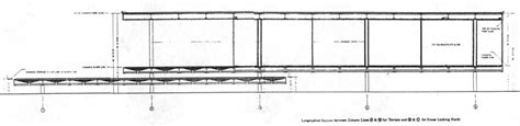 farnsworth house section facsimiles of construction documents