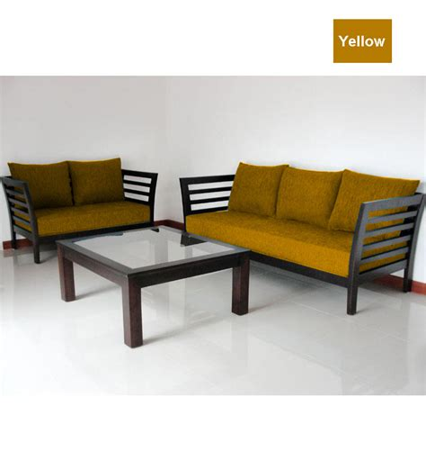 wooden sofa set wooden sofa set 3 2 seater by furny online sofa sets